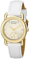 ESQ Movado Women's 07101448 Classica Diamond-Accented Gold Ion-Plated Watch