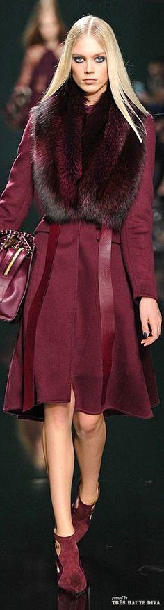 Paris Fashion Week - Elie Saab Fall/Winter 2014 RTW Notice color 'Marsala'