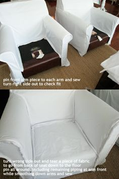 How To Make A Club Chair Slipcover