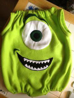 Makin' it: Mike Wazowski Costume Instructions (then have the kiddo wear a Monsters University hat)