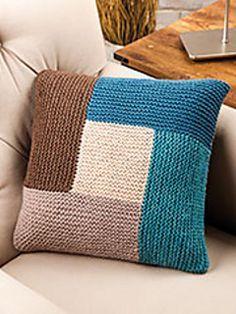 Geometric Pillow (Knit and Crochet Now! Season Episode Geometric Pillow (Knit and Crochet Now! Season Episode Geometric Pillow (Knit and Crochet Now! Season Episode Geometric Pillow (Knit a. Knitted Cushion Covers, Knitted Cushions, Knit And Crochet Now, Crochet Home, Free Crochet, Ravelry Crochet, Knitting Stitches, Knitting Patterns Free, Crochet Patterns