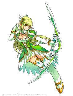Rena - A marksman with ranged weapon http://www.elsword.in/elsword/Characters/