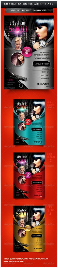 Print Templates - City Hair Salon Promotional Flyer | GraphicRiver