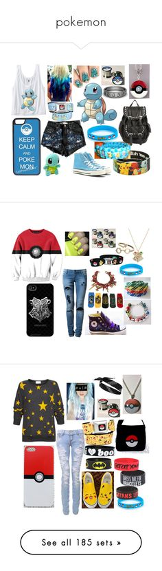"""""""pokemon"""" by izzer145 ❤ liked on Polyvore featuring art, plushies, pokemon, stuffed animals, toys, filler, Wildfox, River Island, Keep A Breast and DC Shoes"""