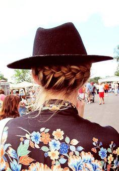 Boho braid chic style hat siblingsarmy love