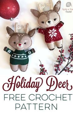 Holiday Deer - Spin a Yarn Crochet