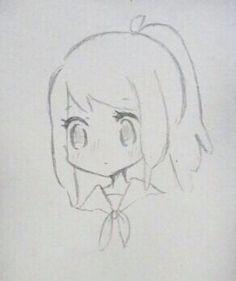 Sad Drawings, Cute Sketches, Girl Drawing Sketches, Girly Drawings, Cartoon Girl Drawing, Art Drawings Sketches Simple, Colorful Drawings, Simple Cartoon, Cartoon Art Styles