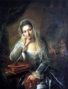 Autoportrait de Anna Rosina de Gasc, 1767