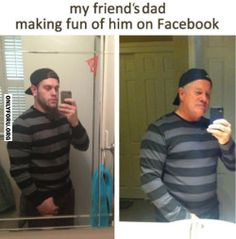 Dad Makes Fun Of Son On Facebook - #OnlyForU, #funny, #lol, #fun, #humor, #rofl, #lmfao, #cute, #gif, #wtf, #troll, #hilarious, #laugh, #comics, #meme, #gags, #sexy, #new, #amazing, #awesome, #wow, #haha,