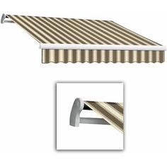Maui-LX Left Motor with Remote Retractable Awning, 18 ft.W x 10 ft.Proj, Multicolor