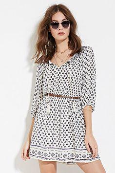 Belted Gauze Dress | Forever 21 - 2000168405