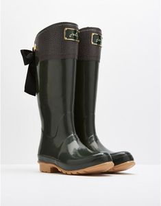Joules EVEDON Premium Bow Wellies - I'm dying!
