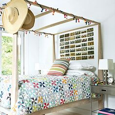 Postcard headboard - How to Make a Headboard - Sunset