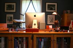 Chris Bohjalian's desk (another view)