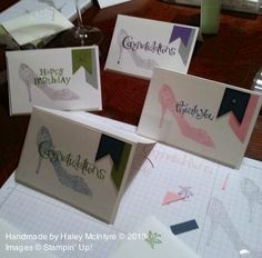 stampin up girl's night cards