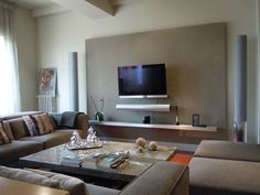 #Decoracion #Contemporáneo #Sala de la TV #Sala de estar #Muebles de TV #Sofas
