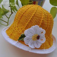 Garden Party. DAISY Pin/Headband Crochet by mylittlecitygirl