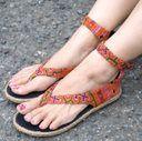 TIRAKITA | Rakuten Global Market: Hmong old cloth handmade rope Sandals-[from 23 cm 24 cm] Thailand, Hmong, sandals