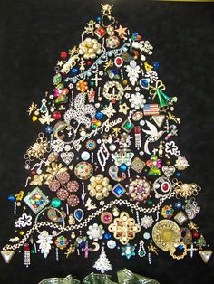 tree made out of jewerly - Google Search