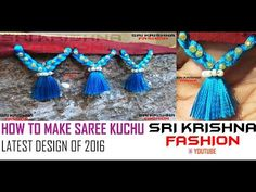 How to make Saree Kuchu / Tassels Design using Silk Thread - Beaded Design 2 at Home | Tutorial !! - YouTube