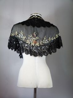 Oshawa Community Museum • This delicate sheer black shawl originally...