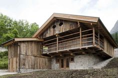 Alpine Barn Restoration, Selva di Cadore, ItalyI've never imagined a building used to storage hay and grain can actually become a house for the people. The client EXIT Studio worked for wasn't . Architecture Wallpaper, Architecture Design, Contemporary Architecture, Timber Architecture, Materials And Structures, Barn Renovation, Wooden Barn, Refuge, Old Barns