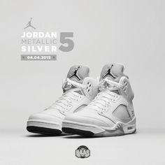 new style 0aae9 2fc5f  jumpman23  airjordan  jordan5  jordan5retro  metallicsilver  sneakerbaas  baasbovenbaas  Air Jordan 5 Retro