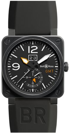 Bell & Ross Aviation Auto Mens Watch BR-03-51-GMT-CARBON