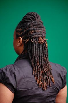 up-do with twisted locs