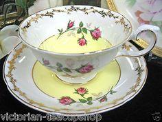 ROYAL GRAFTON TEA CUP AND SAUCER YELLOW ROSES teacup