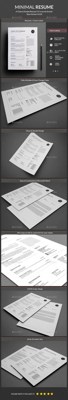 Resume — Photoshop PSD #swiss #minimal • Download ➝ https://graphicriver.net/item/resume/19217198?ref=pxcr
