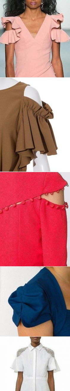 Interesting arm stitching Deniz saving for the brown sleeve Kurti Sleeves Design, Sleeves Designs For Dresses, Sleeve Designs, Blouse Designs, Sewing Clothes, Diy Clothes, Sewing Sleeves, Do It Yourself Fashion, Fashion Sewing