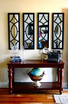 foyer decorating ideas with mirror and furniture : Inviting Foyer Decorating Ideas. decorating foyer,decorating house foyer,foyer decorating ideas pictures,foyer decorating ideas style,foyer decorating tips Entryway Decor, Entryway Tables, Wall Decor, Entrance Foyer, Foyer Design, House Design, Foyer Decorating, Decorating Ideas, Home And Deco