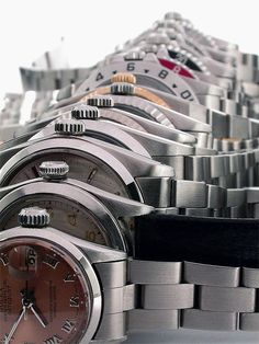 Metal watches connotate masculinity and success.