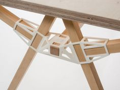 Other 3-D-printed furniture components include connectors, which turn dimensional lumber into instant furniture.
