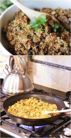 Delicious recipe! Mexican Cauliflower Rice. It is Gluten Free, Paleo and Whole30 Compliant and is seriously delicious!
