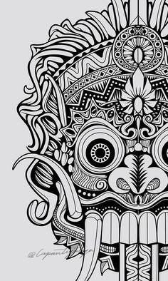 Pin by rav mariñez on skull art in 2019 mask drawing, tattoos, tattoo desig Tattoo Gesicht, Graffiti, Mask Drawing, Drawing Tattoos, Dragons, Barong, Art Premier, Aztec Art, Desenho Tattoo