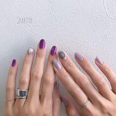 スキンケア スキンケア in 2020 Bridal Nails, Wedding Nails, Violet Nails, Self Nail, American Nails, Nail Envy, Halloween Nail Art, Nail Inspo, Nail Tips