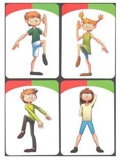 'Do the same' Playing Cards – Prescholl Ideas Gross Motor Activities, Preschool Learning Activities, Preschool Printables, Gross Motor Skills, Therapy Activities, Physical Activities, Physical Education, Teaching Kids, Health Education