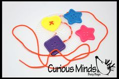 Sewing Buttons Lacing Activity from Curious Minds Busy Bags