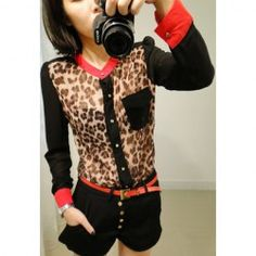 Red Black Cheetah...kinda loving the whole look!