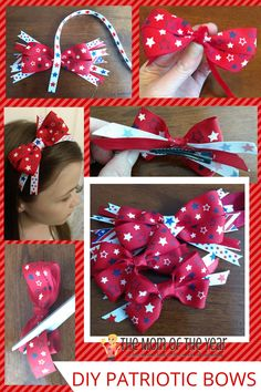 DIY Patriotic Bows are the PERFECT way to get your little gal in the Americana spirit for Memorial Day or July 4th! You'll be surprised at how easy these are to whip up! Save a ton of money making your own vs. purchasing store-bought, and these make a super gift too! And MAKE SURE to catch the smart tips at the end about what mistakes to avoid for better results! #bows #DIY #DIYbows #patriotic #July4th #4thofJuly #FourthofJuly Blue Tips, Making Hair Bows, Love Craft, Independence Day, Fourth Of July, Memorial Day, Mistakes, Gifts For Mom, Make Your Own