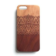 Real wood engraved iPhone case made one at a time using our laser engrave technique