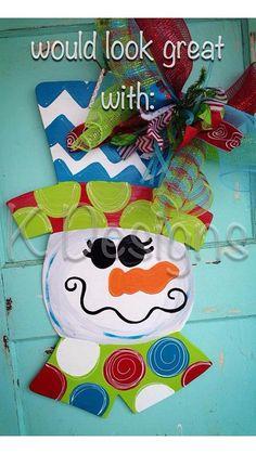 ORIGINAL swirly Santa door hanger personalized by paintchic