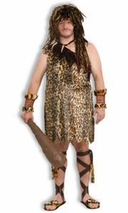 #1: Save Price for  Macho Caveman Adult Costume Plus Size (44-48) XLarge Sale