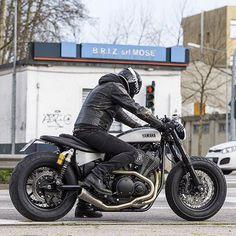 Fat XV950.   built by @motodiferro.   #caferacer #yamaha #xv950 #caferacerclub