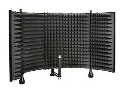 Monoprice Microphone Isolation Shield - Black - Foldable with inch Mic Threaded Mount, High Density Absorbing Foam Front And Vented Metal Back Plate - Stage Right (Color: Black, Tamaño: Desktop Adjustable) Isolation Chamber, Studio Foam, Thread Adapter, Foam Panels, Studio Equipment, Acoustic Panels, Back Plate, Home Studio, Musical Instruments