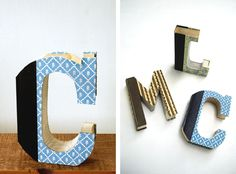 DIY vintage book letters from The Merrythought. Diy Vintage Books, Diy Old Books, Book Letters, Monogram Letters, Magazine Crafts, Diy Pins, Stationery Paper, Diy Party, Paper Crafts