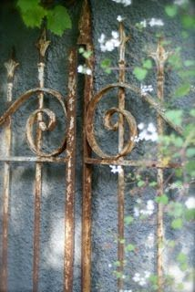 rusty wrought iron gate <3 I have several and love each one.