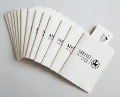 Handmade menú booklets, 14,8 x 21cm.  Made & Designed by Ewelina Sosniak | Illustrated by Zuza Przybyszewska
